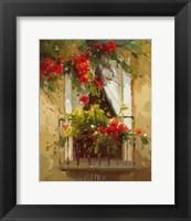 Romantic Window I Framed Print