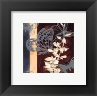 All a Flutter II - blue Framed Print