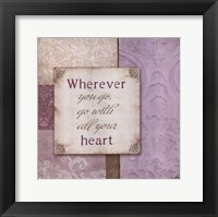 All Your Heart Framed Print
