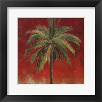 Framed La Palma on Red I