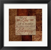 Love of a Family Framed Print