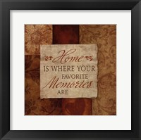 Favorite Memories Framed Print