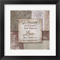 Dream and Love Framed Print