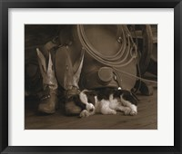 Framed Cowboy Puppy