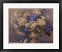 Framed Blue and White Delight