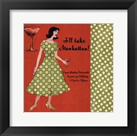 Manhattan Lady Framed Print
