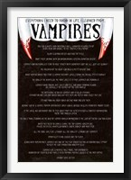 Framed Everything I need to know in life I learned from vampires