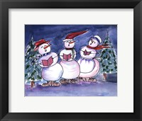 Snowmen Carols Framed Print