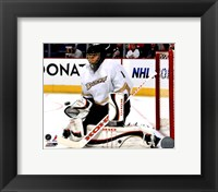 Framed Jonas Hiller 2010-11 Action