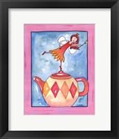 Harlequin Teapot Fairy Framed Print