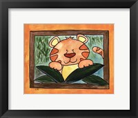 Here's Lookin at You - Tiger Framed Print