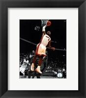 Framed LeBron James 2010-11 Spotlight Action