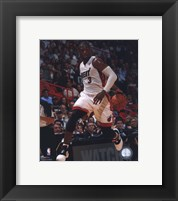Framed Dwyane Wade 2010-11 Action