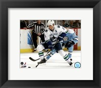 Framed Kevin Bieksa 2010-11 Action