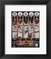 Framed 2010-11 Cleveland Cavaliers Team Composite