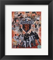 Framed San Francisco Giants 2010 World Series Champions PF Gold