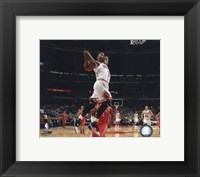 Framed Derrick Rose 2010-11 dunking