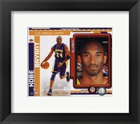 Framed Kobe Bryant 2010-11 Studio Plus