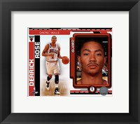 Framed Derrick Rose 2010-11 Studio Plus