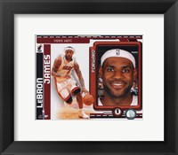 Framed Lebron James 2010-11 Studio Plus
