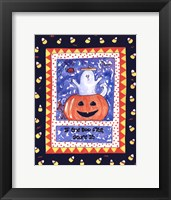 Halloween Ghost (Blue) Framed Print