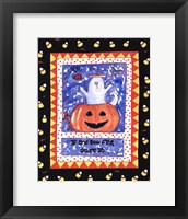 Halloween Ghost (Black) Framed Print