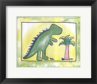 Lil Green Dino Framed Print