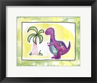 Lil Purple Dino Framed Print