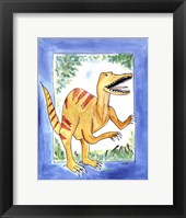 Rapping Raptor Framed Print