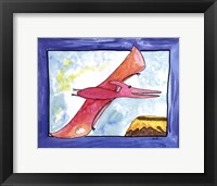 Flying Dino Framed Print