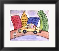 Framed Taxi Cab