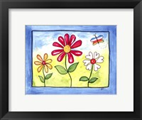 Blue Flower Land Framed Print