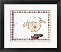 Here's Looking at You - Sheep Framed Print