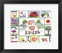 All Around the Barnyard- Pigs Framed Print