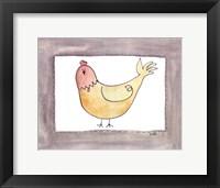 Framed Vintage Chicken