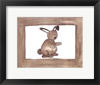 Vintage Rabbit Framed Print