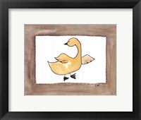 Vintage Duck Framed Print