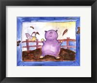 Pig Pen Framed Print