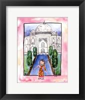 Girl in India Framed Print