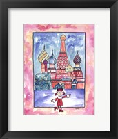 Girl In Russia Framed Print
