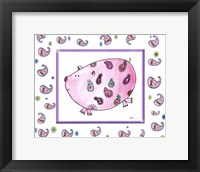 Paisley Pig Framed Print