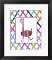 Framed Groovy Giraffe
