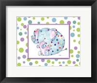Groovy Elephant Framed Print