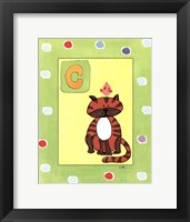 C is for Cat Framed Print