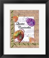 Quatre Coccinelles Framed Print