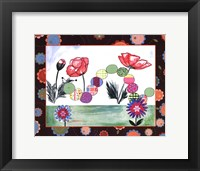 Patchwork Caterpillar Framed Print