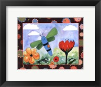 Patchwork Butterfly Framed Print