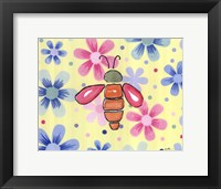 Funky Flower Bee Framed Print