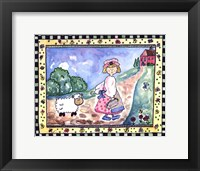 Mary and the Lamb Framed Print
