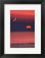 Framed Coastal Sunset Portrait